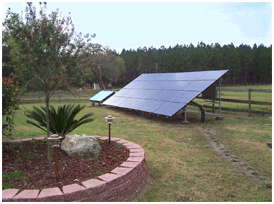 4.8 kW grid-connected solar system mounted on a ground rack